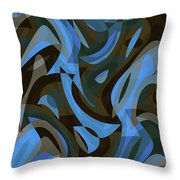Abstract Waves Painting 007203 Throw Pillow