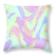 Abstract Waves Painting 007205 Throw Pillow