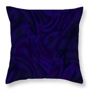 Abstract Waves Painting 007207 Throw Pillow