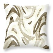 Abstract Waves Painting 007212 Throw Pillow