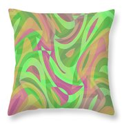 Abstract Waves Painting 007214 Throw Pillow