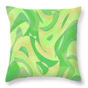 Abstract Waves Painting 007216 Throw Pillow