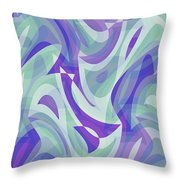 Abstract Waves Painting 007217 Throw Pillow