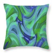 Abstract Waves Painting 007221 Throw Pillow