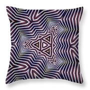 Abstract Zebra Design Throw Pillow