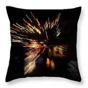 Abstracted Christmas - Luminous Fairy Lights Patterns Throw Pillow