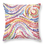 Abstraction In Winter Colors Throw Pillow