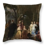 Achilles And The Daughters Of Archimedes  Throw Pillow