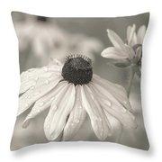 Achromatic Adoration Throw Pillow