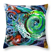 Acidfish 104 Throw Pillow
