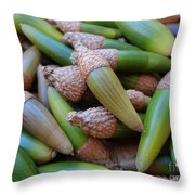 Acorn Harvest Throw Pillow