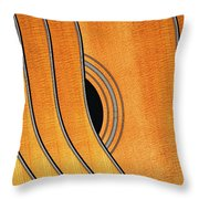 Acoustic Curve No 7 Throw Pillow by Bob Orsillo