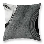 Acoustic Curves No 6 Throw Pillow by Bob Orsillo