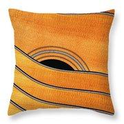 Acoustic Curves No 7,v Throw Pillow by Bob Orsillo