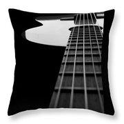 Acoustic Guitar Musician Player Metal Rock Music Lead Throw Pillow