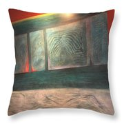 Painting On The Wall Throw Pillow