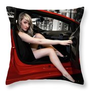 Action Red Throw Pillow