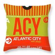 Acy Atlantic City Luggage Tag I Throw Pillow
