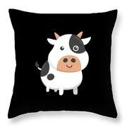 Adorable Cow Cute Baby Calf Throw Pillow