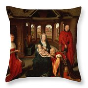 Adoration Of The Kings Throw Pillow