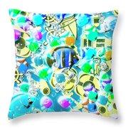 Adventures On Icon Reef Throw Pillow