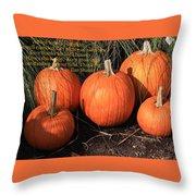 The Pumpkin Patch Throw Pillow