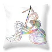 Aerial Hoop Dancing Ribbons For Her Hair Png Throw Pillow