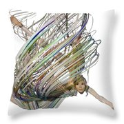 Aerial Hoop Dancing Whirlwind Of Hair Png Throw Pillow