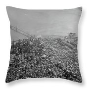 Aerial View Of Downtown San Francisco From The Air Throw Pillow