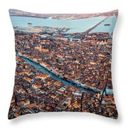 Aerial View Of Grand Canal, Venice, Italy Throw Pillow