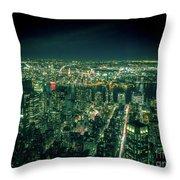 Aerial View Of Manhattan Skyline  Throw Pillow