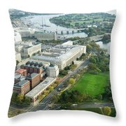 Aerial View Of Southwest Washington Dc, Including The Holocaust  Throw Pillow