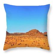 African Desert Panorama Throw Pillow