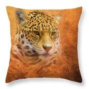 African Leopard Throw Pillow