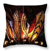 African Shields At Ak Lodge Throw Pillow