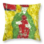 After Billy Childish Painting Otd 23 Throw Pillow