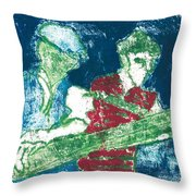 After Billy Childish Painting Otd 33 Throw Pillow