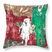 After Billy Childish Painting Otd 43 Throw Pillow