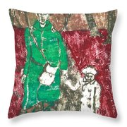 After Billy Childish Painting Otd 45 Throw Pillow