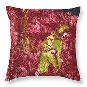 After Billy Childish Painting Otd 7 Throw Pillow