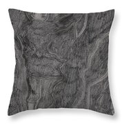 After Billy Childish Pencil Drawing 11 Throw Pillow