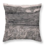 After Billy Childish Pencil Drawing 18 Throw Pillow