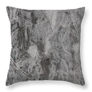 After Billy Childish Pencil Drawing 3 Throw Pillow