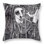 After Childish Edgeworth Pencil Drawing 10 Throw Pillow