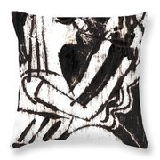 After Mikhail Larionov Black Oil Painting 1 Throw Pillow