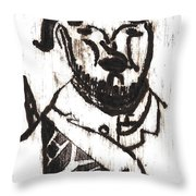 After Mikhail Larionov Black Oil Painting 2 Throw Pillow