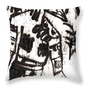 After Mikhail Larionov Black Oil Painting 3 Throw Pillow