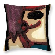 After Mikhail Larionov Oil Painting 1 Throw Pillow