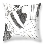 After Mikhail Larionov Pencil Drawing 1 Throw Pillow