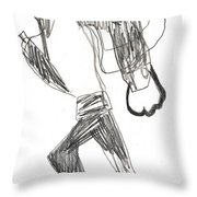 After Mikhail Larionov Pencil Drawing 12 Throw Pillow